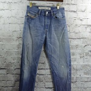 Diesel Indian Tag Distressed Button Fly Jeans